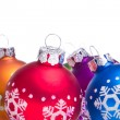 Christmas balls with snowflake symbols - Foto de Stock