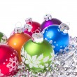 Christmas balls with snowflake symbols — Stock Photo #7656707
