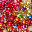 Christmas balls and tinsel — 图库照片 #7656757