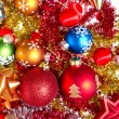 Christmas balls and tinsel - Foto de Stock