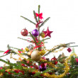 Decorated christmas tree — Stock Photo #7656793