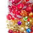 Christmas balls and tinsel - Stock fotografie