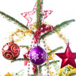Decorated christmas tree - Stock fotografie