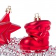 Christmas decoration with tinsel -  