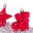 Christmas decoration with tinsel - Stock fotografie