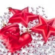Christmas decoration with tinsel — Stock Photo #7656846