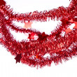 Red tinsel — Stock Photo