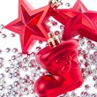 Christmas decoration with tinsel - Lizenzfreies Foto