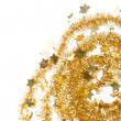 Golden tinsel - Foto de Stock