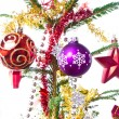 Decorated christmas tree — Stock Photo #7657076