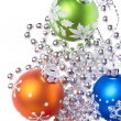 Christmas balls with snowflake symbols — Stock Photo #7657093
