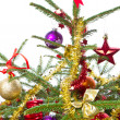 Decorated christmas tree — Stock Photo #7657099