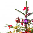 Decorated christmas tree - Foto Stock