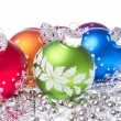 Christmas balls with snowflake symbols — Stock Photo #7657145