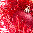Christmas balls with tinsel — Stock Photo #7657146