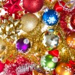 Christmas balls and tinsel — Stock Photo #7657152