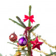 Decorated christmas tree — Stock Photo #7657173