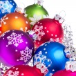 Christmas balls with snowflake symbols — Stock Photo #7657174