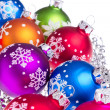 Christmas balls with snowflake symbols - Стоковая фотография