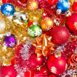 Christmas balls and tinsel - Photo