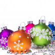 Christmas balls with snowflake symbols — Stock Photo #7657215