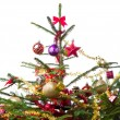 Decorated christmas tree - 图库照片