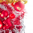 Christmas balls and tinsel -  