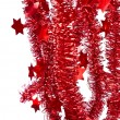 Red tinsel - Foto de Stock  