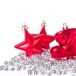 Christmas decoration with tinsel - Stock Photo
