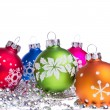 Christmas balls with snowflake symbols — Stock Photo #7657277