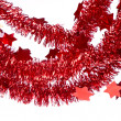 Red tinsel - Foto Stock