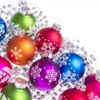 Christmas balls with snowflake symbols - Foto Stock