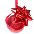 Christmas ball with ribbon — Stock Photo #7657316