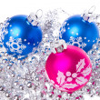 Christmas balls with tinsel — Lizenzfreies Foto