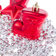 Christmas decoration with tinsel — Stock Photo #7657367