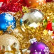 Christmas balls and tinsel — Stock Photo #7657458