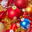 Christmas balls and tinsel — Stock Photo #7657545
