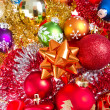 Christmas balls and tinsel — Lizenzfreies Foto
