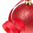 Christmas ball with ribbon — Stock Photo #7657574