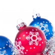 Christmas balls with tinsel — Stock Photo #7657595