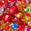 Christmas balls and tinsel — Stock Photo #7657606