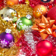 Christmas balls and tinsel — Foto de Stock