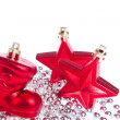 Christmas decoration with tinsel — Stock Photo #7657669