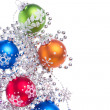 Christmas balls with tinsel — Stock Photo #7657682