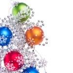 Christmas balls with tinsel — Stock Photo #7657682