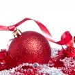 Ball with ribbon and tinsel — ストック写真