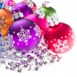 Christmas balls with snowflake symbols — Stock Photo #7657729