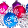 Christmas balls with snowflake symbols — Stock Photo #7657776