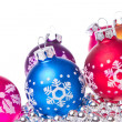 Christmas balls with snowflake symbols — Stock Photo #7657858