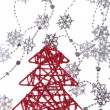 Christmas tree with snowflakes - Stockfoto